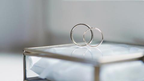Gold wedding rings Footage