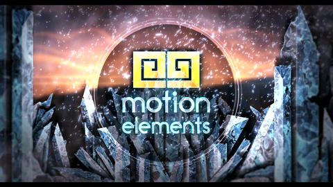 Ice Frozen Logo 6 After Effects Template