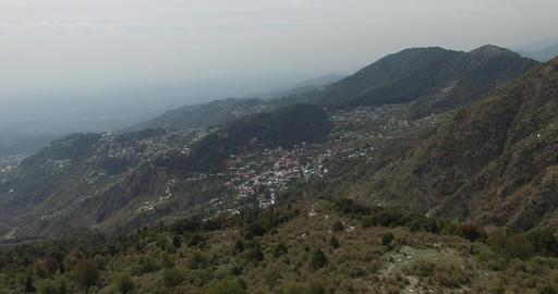 Bird's Eye View of Mountain City Footage