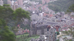 View from The Maokong Gondola Taipei Taiwan Footage