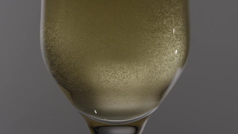 Champagne Bubbles Rising Closeup Footage