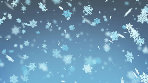 Big Snowflakes Falling with Blur. Winter Snowfall. Merry Christmas and Happy New Animation