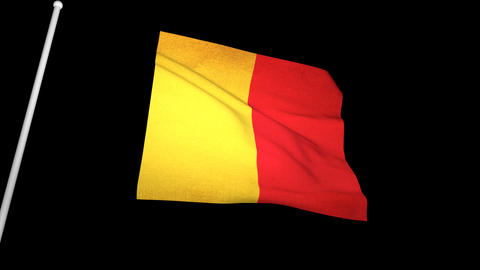 Flag Belgium 01 Animation