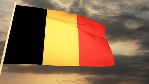 Flag Belgium 04 Animation