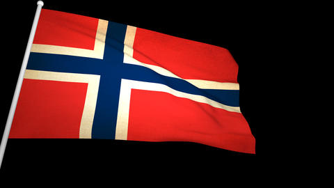 Flag Norway 01 Animation