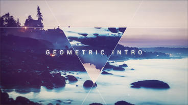 Geometric intro After Effects Templates