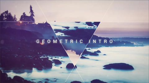 Geometric intro After Effects Template