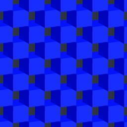 Blue Cubes Seamless Pattern Vector