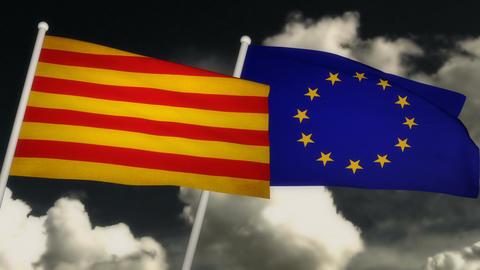 Flag Catalonia-Europe 02 Animation