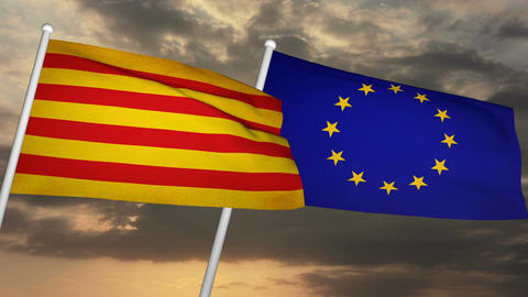 Flag Catalonia-Europe 04 Animation