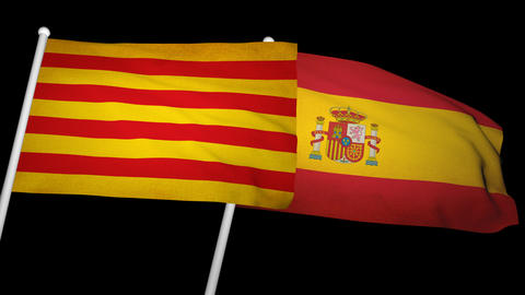 Flag Catalonia-Spain 01 Animation