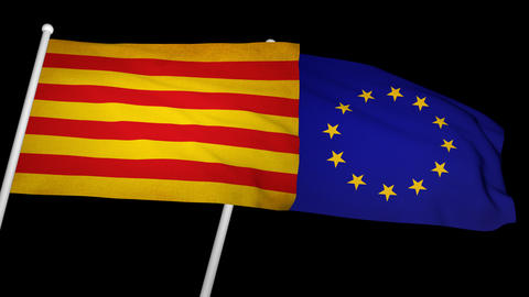 Flag Catalonia-Europe 01 Animation