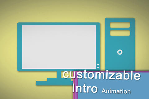 Costumizable modern flat Logo reveal Intro Opener Animation for your Videos or After Effects Template
