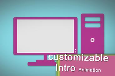 Costumizable modern flat Logo reveal Intro Opener Animation for your Videos or After Effects Templates