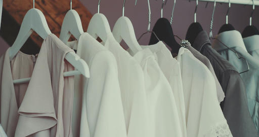 Wedding Clothes Hanging On Coathangers Live Action