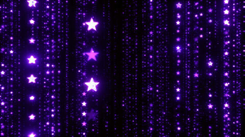 Cg Background of Christmas Purple Stars Animation