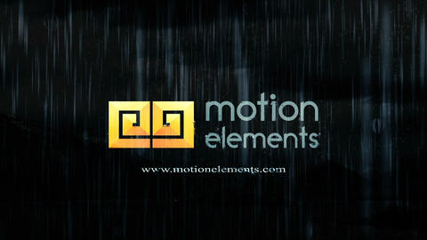 Rain logo After Effects Template