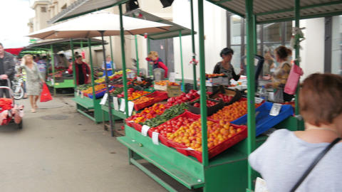 RIGA - LATVIA, AUGUST 2015: central market view Footage