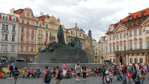 PRAGUE - CZECH REPUBLIC, AUGUST 2015: old town, city center Footage