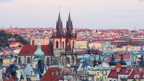 prague, old town city hall, czech republic, 4k Footage