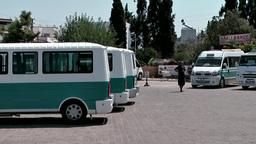 Turkey the Aegean Sea Turgutreis 060 main bus station of the city Footage