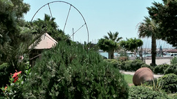 Turkey the Aegean Sea Turgutreis 072 waterfront park at marina Footage