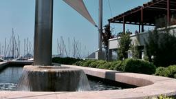 Turkey the Aegean Sea Turgutreis 075 fountain in yacht club Footage