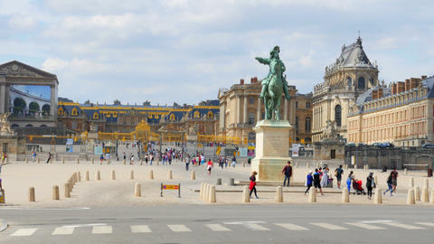 PARIS - FRANCE, AUGUST 2015: versailles palace view Footage