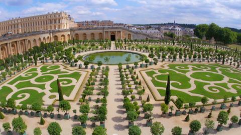 versailles palace, paris, france, 4k Footage
