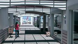 Turkey the Aegean Sea Turgutreis 001 modern shopping arcade of marina Footage