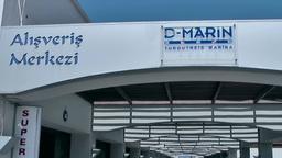 Turkey the Aegean Sea Turgutreis 002 modern shopping arcade of marina Footage