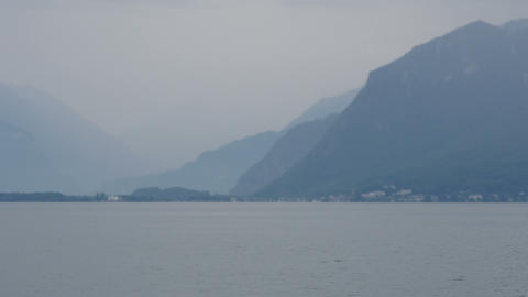 geneva lake and alps view, france and swiss border crossing Footage