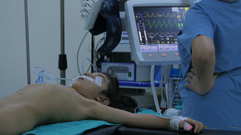 surgery operation, general view in hospital Live Action