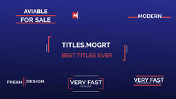 Modern,Smooth Titles Pack Motion Graphics Template
