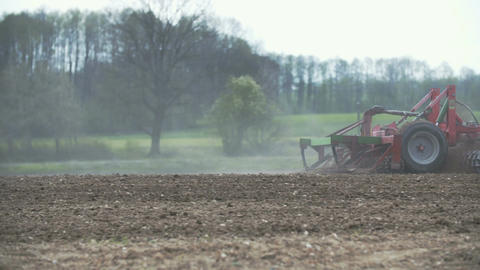 AGRICULTURE. Fresh cultivated land Footage