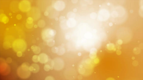 4K gold abstract abstract background with snow flake and blur bokeh and lighting Footage
