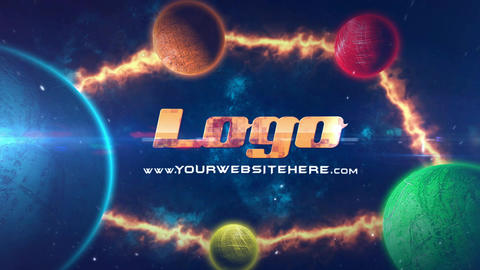 Planets Cinematic Logo After Effects Template