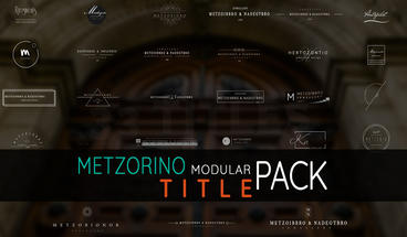 Metzorino Modular Title Pack Ver01 After Effects Template