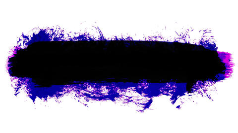 Animation grunge - brush stroke. Abstract hand - painted element Animation