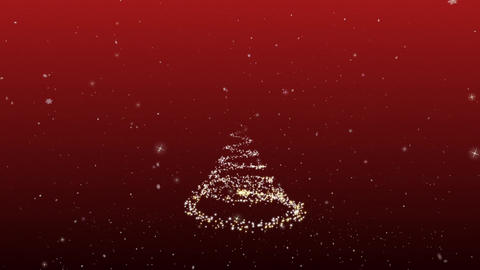 Congratulatory Christmas video card. Create a fantastic Christmas tree. Snow and Bild