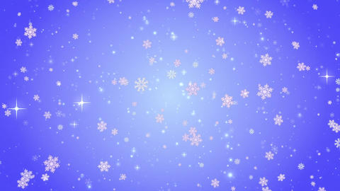 Snow falls and decorative snowflakes. Winter, Christmas, New Year. Blue-violet Image