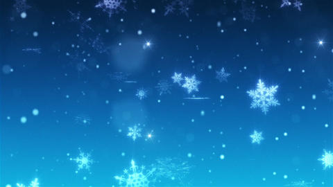 Snow falls and decorative snowflakes. Winter, Christmas, New Year. 3D animation CG動画素材