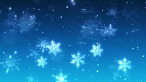 Snow falls and decorative snowflakes. Winter, Christmas, New Year. 3D animation Bild