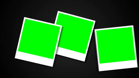 Polaroids frames with green screen for your photo Archivo