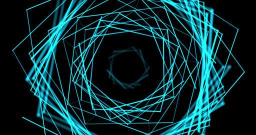 Blue Plexus Tonnel Stock Video Footage
