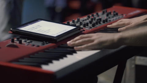 Hands Playing Piano Footage
