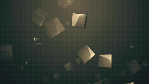 3d Cubes Background Animación