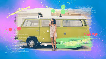 50 Photo Colorful Ink Slidesho - After Effects Template 애프터 이펙트 템플릿