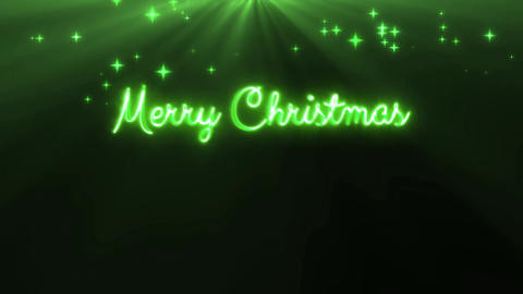 Merry Christmas and a happy new year 4k loop green Animación