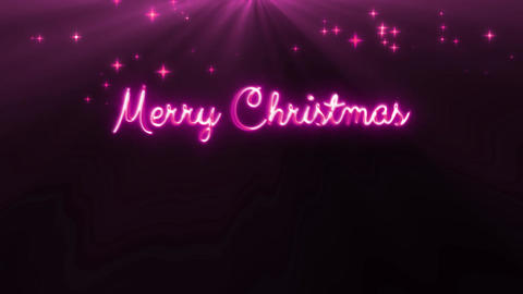 Merry Christmas and a happy new year 4k loop pink CG動画素材